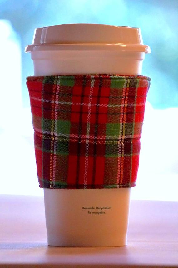 handmade insulated starbucks coffee cup sleeve sea lovers gift blue