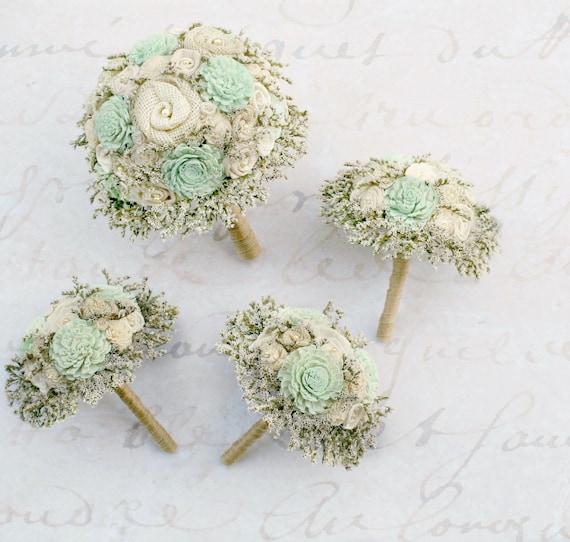 Mint Green Wedding Flowers // Bridal Bouquets Wedding Bouquet
