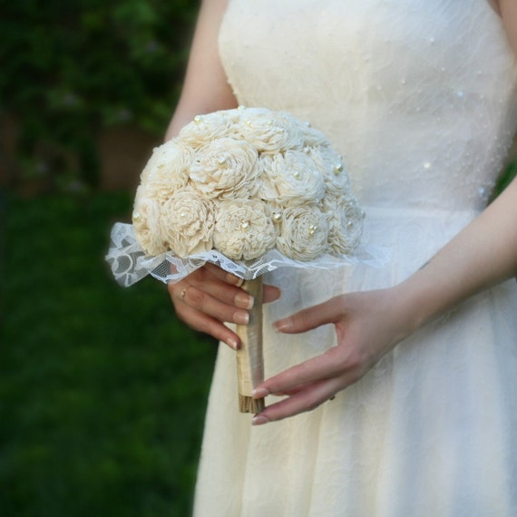 Wedding Bouquets Not Flowers: Sola Wood Wedding Bouquet // Bridal Bouquet Wedding