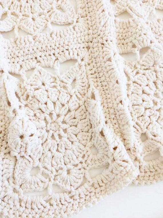 Weiße Häkeldecke gehäkelte Decke Wolldecke weiße Wolldecke | Etsy