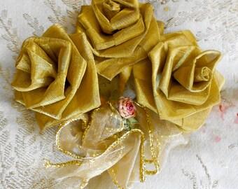 Gold Metallic Floral Bouquet