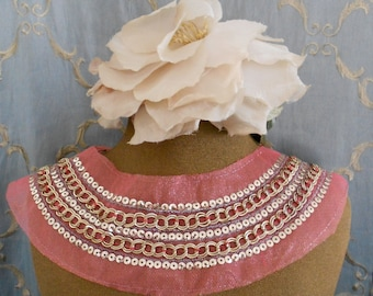 Gold Sequined Chain Applique