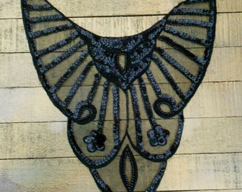 Black Sequined Appliques