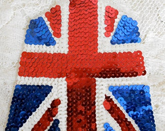 British Flag Sequined Appliques