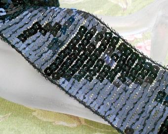 Black Sequined Trim