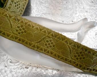 1920's Green Metallic Trim
