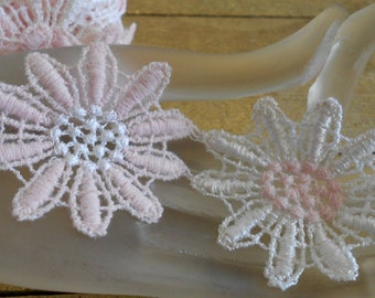 Pink and White Daisy Trim