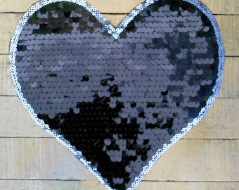 Black Sequined Hearts