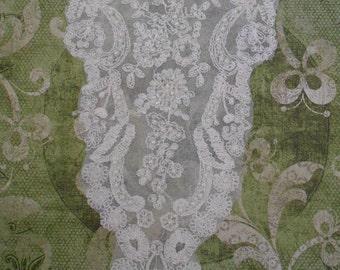 Delicate White Lace Pearl Appliques