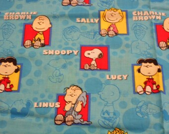 Brand New Beautiful Charlie Brown Snoopy and friends Fabric 100% Cotton 36 Inches x 44 inches