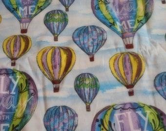 "Beautiful Brand New Hot Air Balloon Fabric 100% cotton Fabric 18"" x  44""      (Half Yard)"
