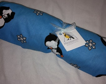 Bedside Cosleeping Sheet Play Pen Pack and Play Penguins Print