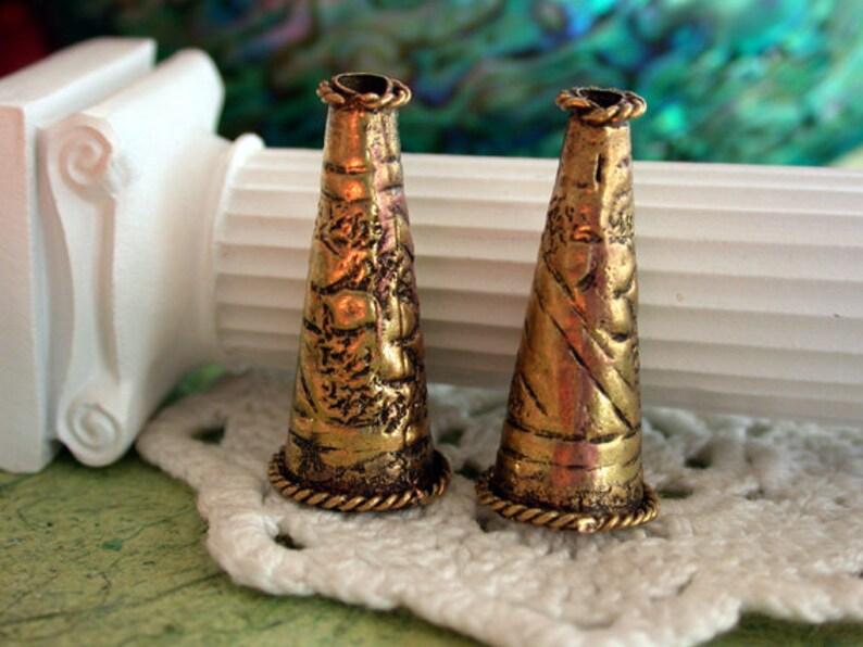 Metal Cones Decorative Cones Antique Brass Cones Large image 0