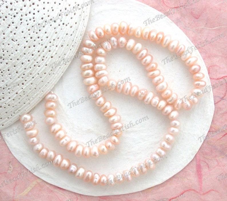 Sale Beads Destash Beads Light Blush Rose Pink Peach Mauve image 0
