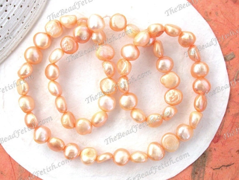 Sale Beads Destash Beads Light Orange Golden Peach Luster image 0