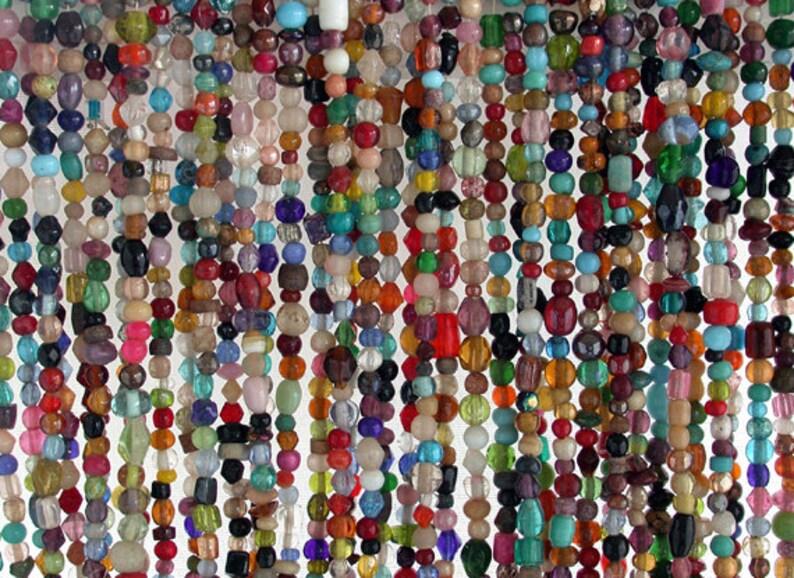 Last 12 Strands  34 Glass Beads Rustic Lampwork Beads image 0