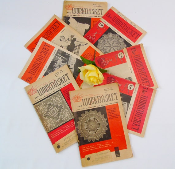 How To Profit From A Home Sewing Business: The Workbasket Magazines 8 Vintage Home And Needlecraft