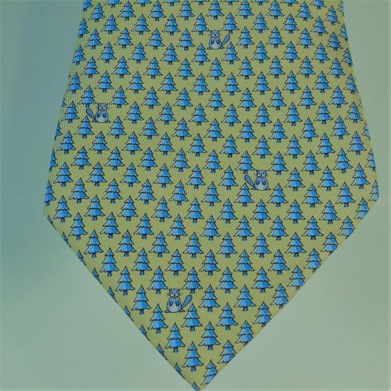 Vintage 1980s Hermes Silk Tie , Hermes 5453 Tie ,