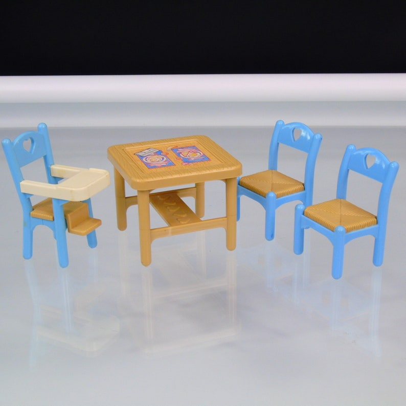 Dollhouse Furniture 1993 Fisher Price Loving Family Dinette Set