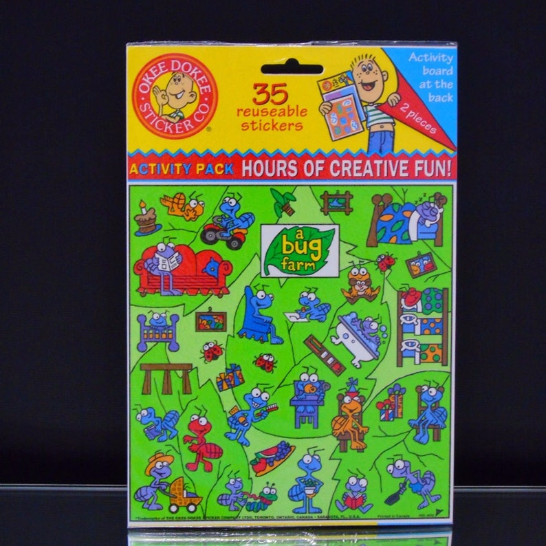 OKEE DOKEE Activity Board with reusable stickers U Choose FAST SHIP