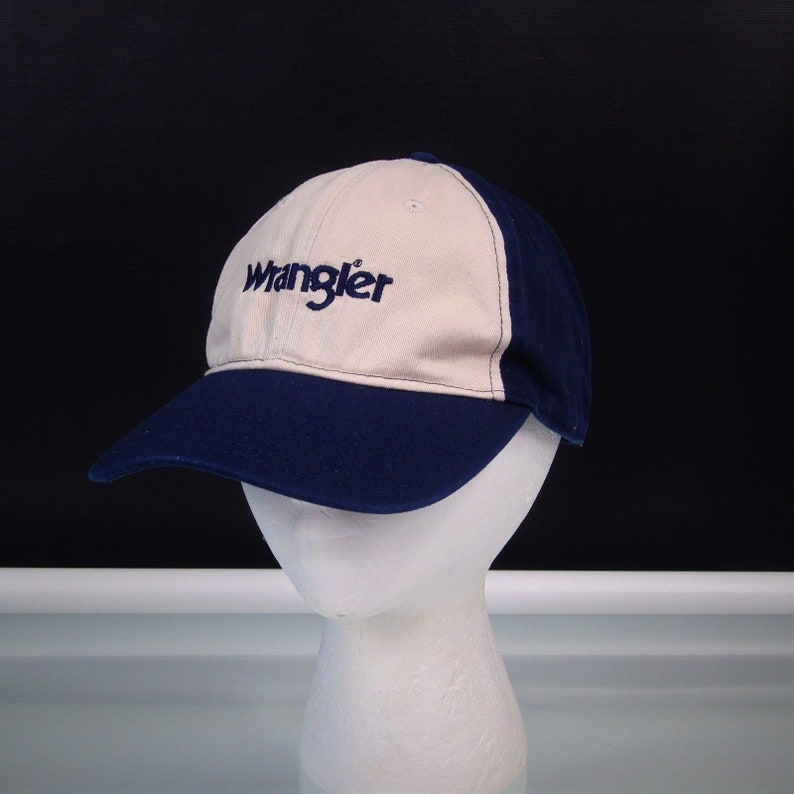 Vintage Wrangler Baseball Hat Adjustable Buckle Cap 9f9b43e4914