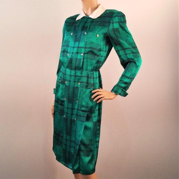 HORCHOW Vintage Silk Dress Career Secretary Dress
