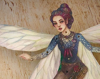 Jointed Collector of Lost Things Fairy Paper Doll Kit