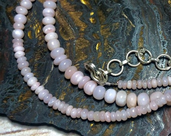Beautiful Pink Opal Bead Necklace