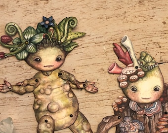 Jointed Forest Friends Paper Doll Kit