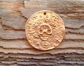 Small Bronze Sugar Skull Coin