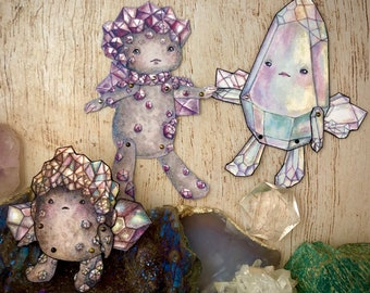 Jointed Crystal Babies Paper Doll Kit