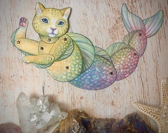 Jointed Cat Fish Mercat Paper Doll Kit
