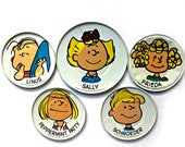 vintage tin litho Peanuts Characters dishes, United Feature Syndicate, Inc. 1950 39 s 1960 39 s, tin lithography, collectible toy dishes
