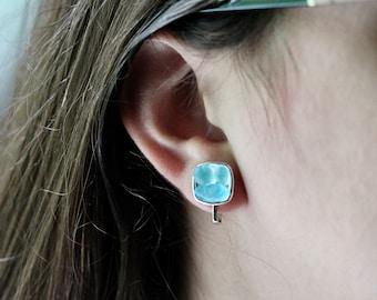 Clip on Sea Glass Earrings