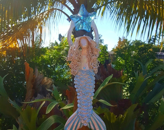 White haired Mermaid Tree Topper