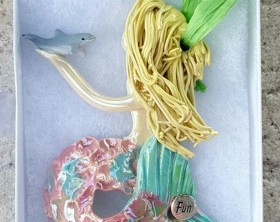 Inspiration Blond mermaid ornament