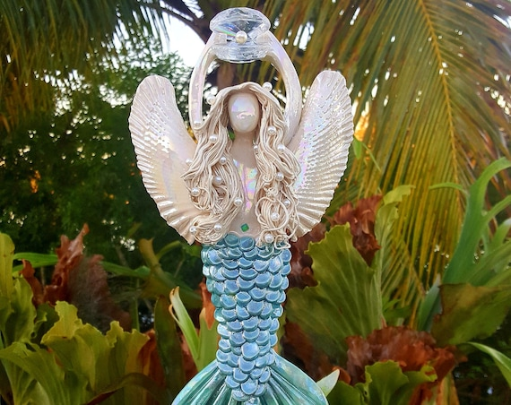 Rainbow Angel Mermaid Tree Topper