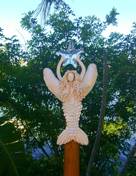 Mother of pearl Angel mermaid Tree Topper