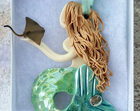 Inspiration Strawberry Blond mermaid ornament