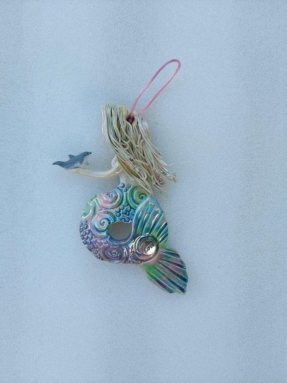 Inspiration Rainbow mermaid ornament