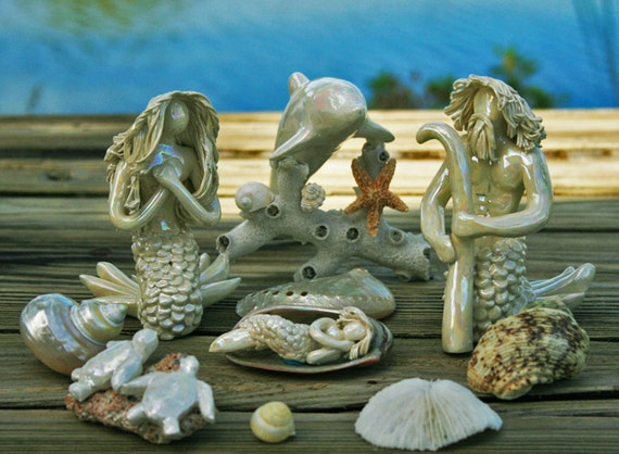 Nautical Nativity w/Dolphin and turtles