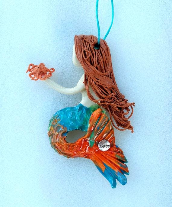 Inspiration Redhead mermaid ornament