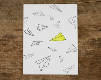 Paper Airplanes Card