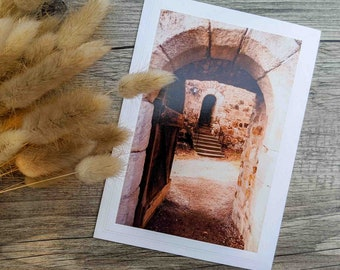 Medieval Monastery Doorway Photo Greeting Card, Old Door, Fine Art Photography, Card for Fans of Medieval Europe, Any Occasion Card