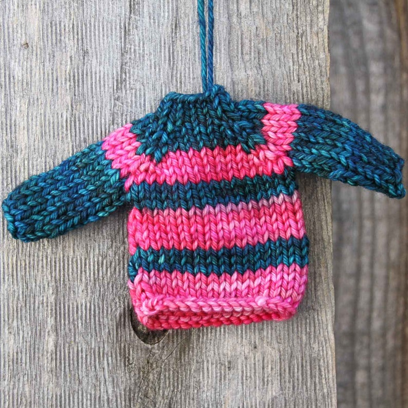 Striped Sweater Ornament for Christmas Tree or Holiday image 0
