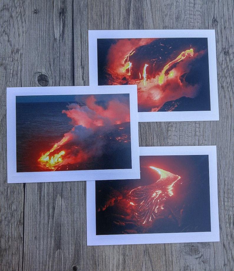 Lava Flow on Hawaii's Kilauea Volcano Photo Greeting Cards image 0