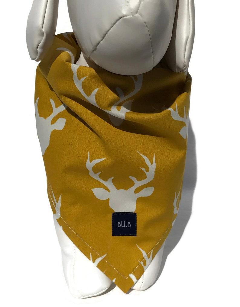 Mustard  Deer Head  Dog Bandana image 0