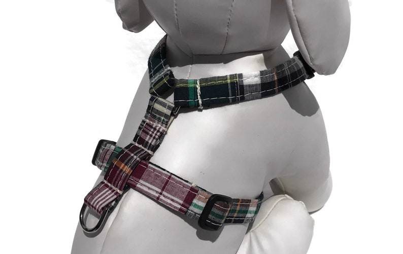 Fall Dog Harness in Madras Patchwork Plaid  The Varsity Club image 0