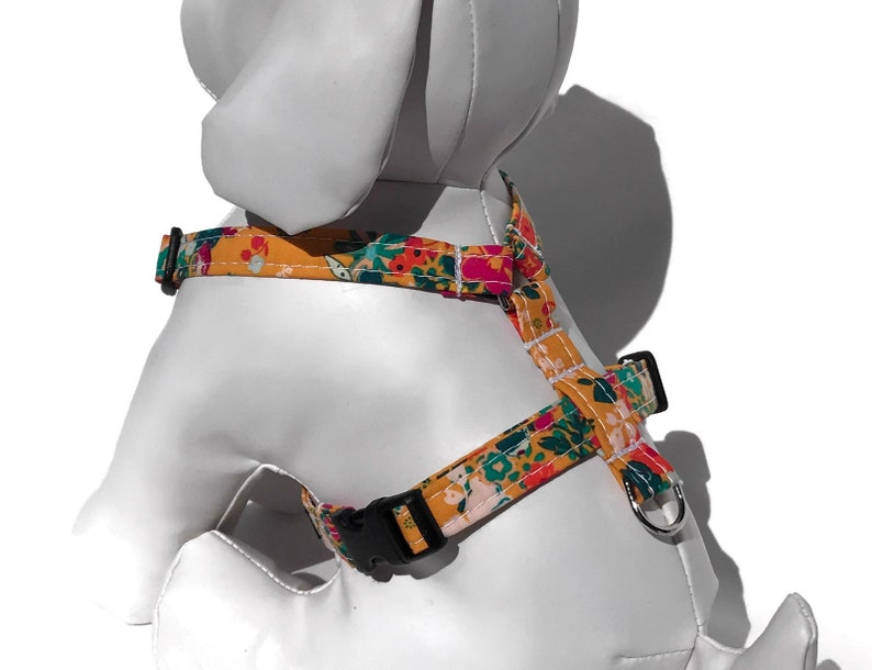 Yellow  Floral Dog Harness  for Small to Large Dogs image 0