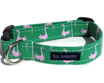 Flamingo Dog Collar  for Small to Large Dogs